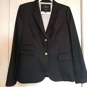 J Crew Navy Wool Schoolboy Blazer. Size 6